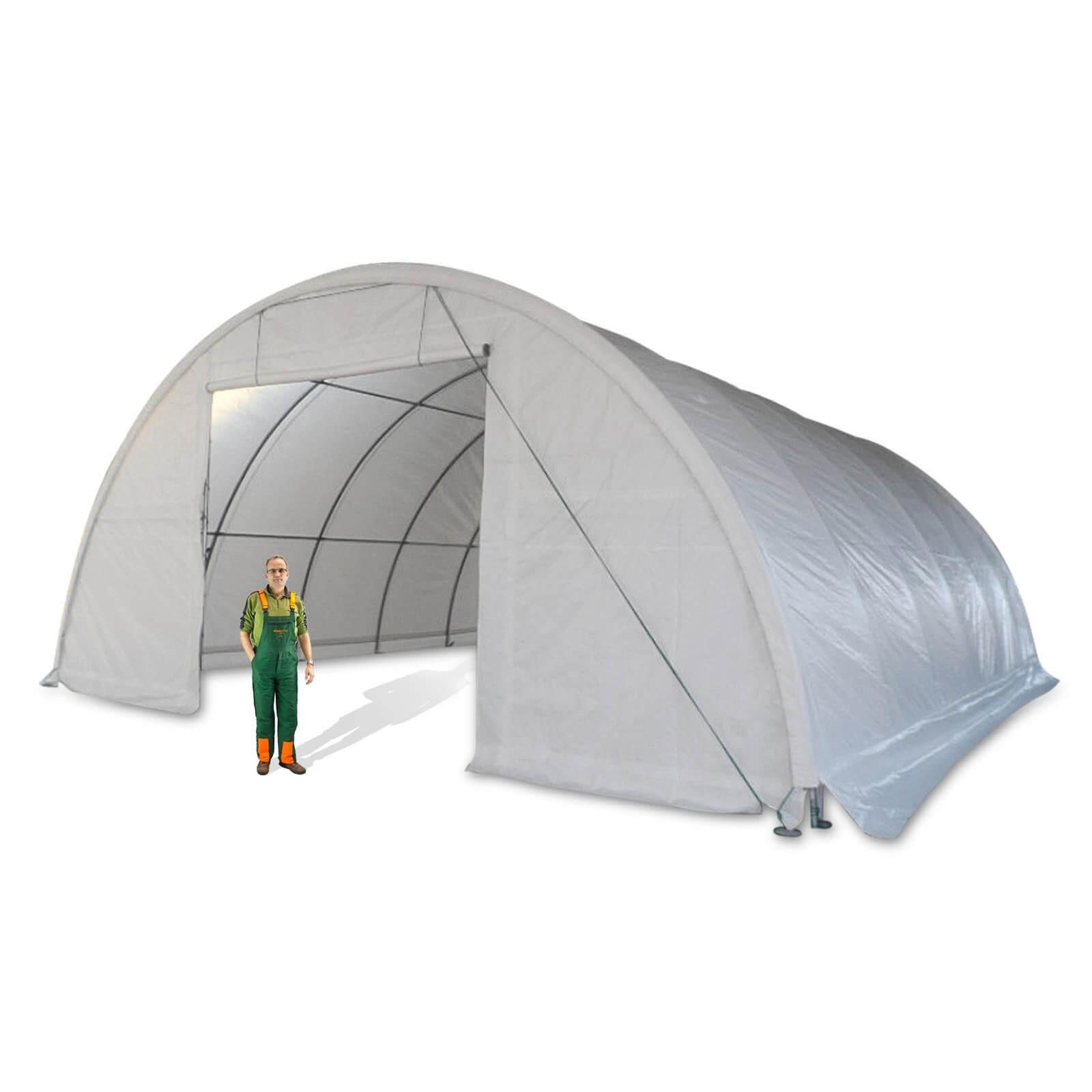 Dema Lagerzelt Glasgow Pro 12x9,15 m Materialzelt Zeltgarage Weidezelt Lagerhalle 14265