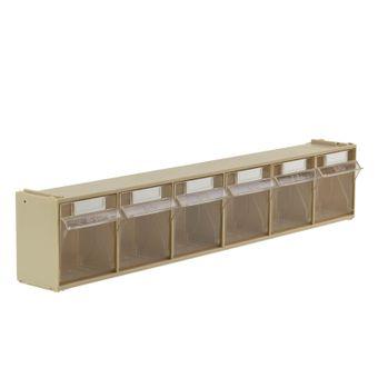 ADB Kleinteilemagazin / Sortierkasten mit 6 Fächern und Beschriftungslasche