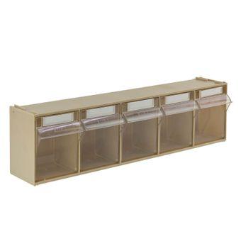 ADB Kleinteilemagazin Sortimentskasten mit 5 Fächern, 600x140x168 mm – Bild $_i