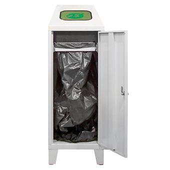 ADB Abfallsammler Wertstoffsammler Abfalleimer Mülltrenner mit Beutelhalter 120L – Bild $_i