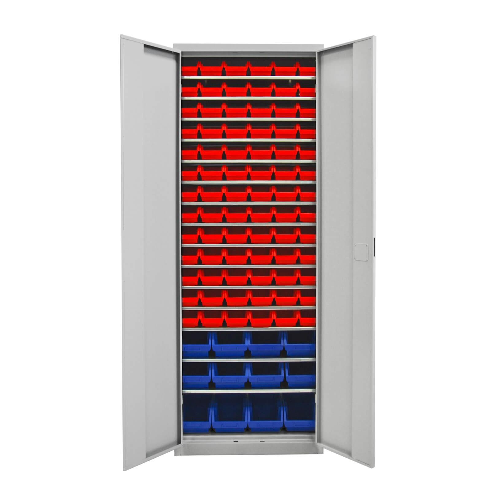 Sehr ADB Werkstattschrank mit 90 Stapelboxen NP61
