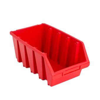 ADB Sichtlagerkasten Stapelbox Lagerbox Sichtbox Größe 4 Box rot 204x340x155 mm – Bild $_i