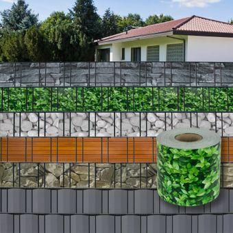 PVC Sichtschutzstreifen / Sichtschutzzaun 70 m x 19 cm - Farbe nach Wahl – Bild $_i