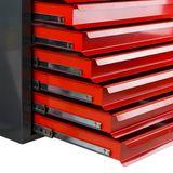 Metall Schubladenschrank / Werkzeugschrank Fernando Maxi 10 Schubladen Anth./Rot