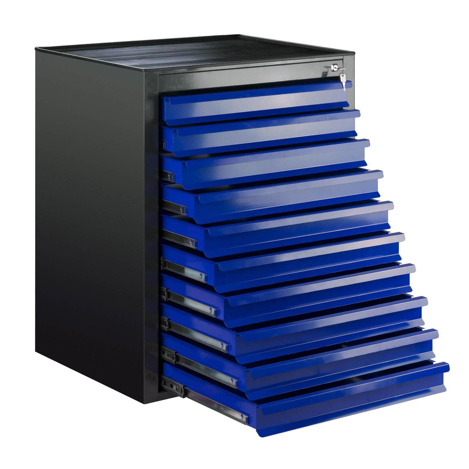 metall schubladenschrank werkzeugschrank fernando 10 schubladen anth blau ebay. Black Bedroom Furniture Sets. Home Design Ideas