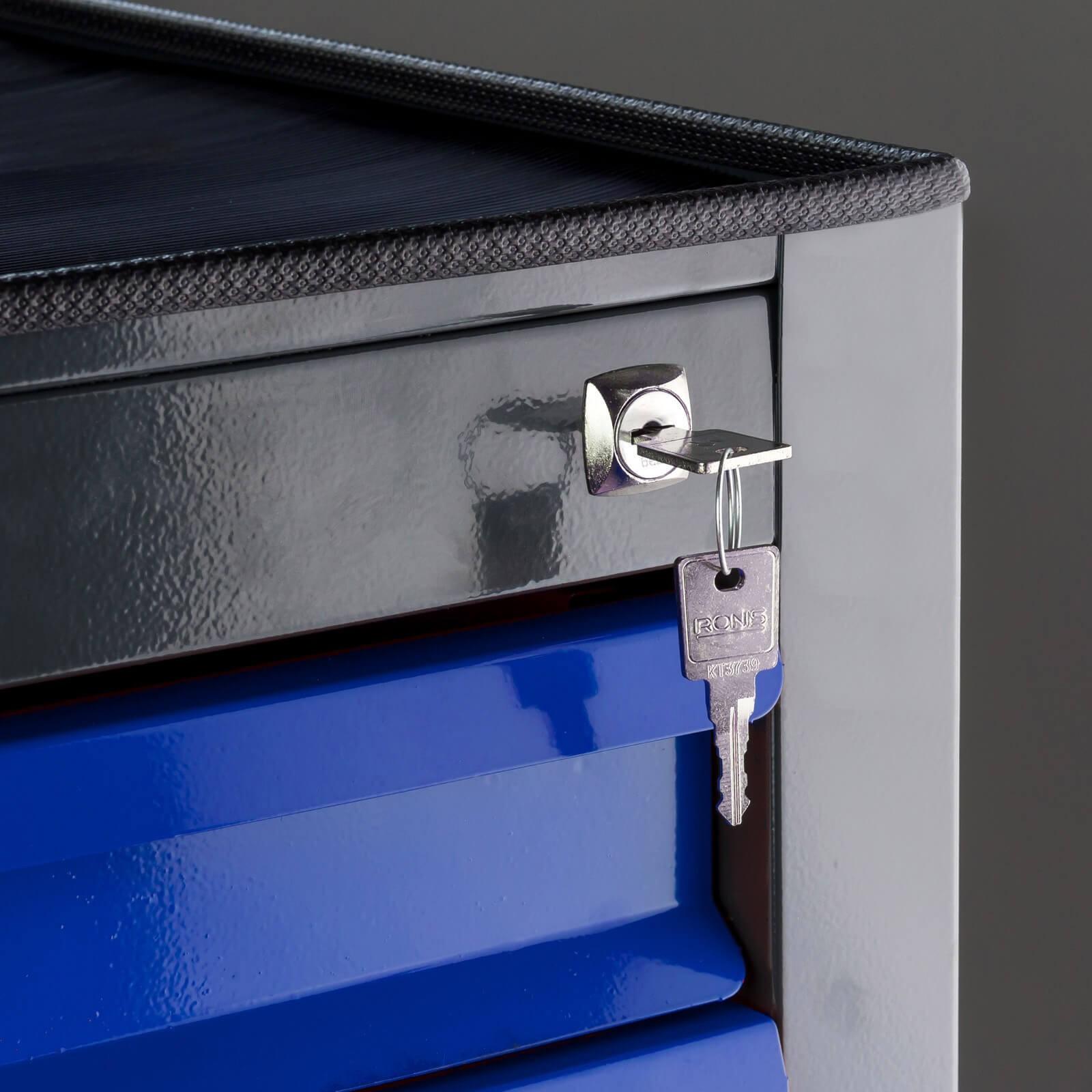 metall schubladenschrank werkzeugschrank fernando maxi 10 schubladen anth blau. Black Bedroom Furniture Sets. Home Design Ideas