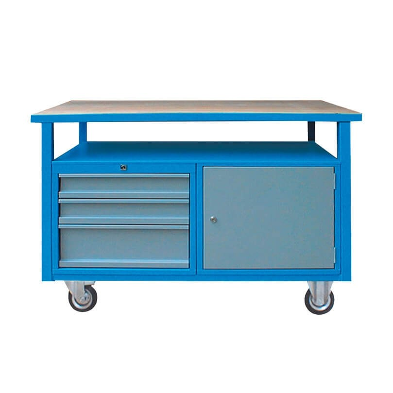 werkbank mit rollen 3 schubladen und 1 t re. Black Bedroom Furniture Sets. Home Design Ideas