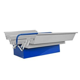 ADB Werkzeugkasten / Werkzeugkiste Metall 5-tlg. grau-blau – Bild $_i