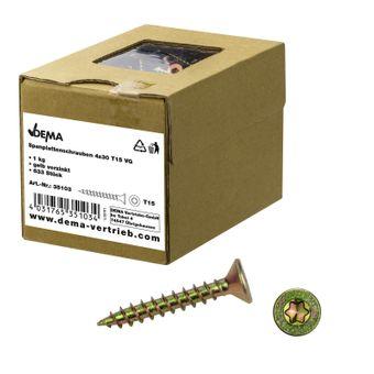 Spanplattenschrauben Holzschrauben Senkkopf Ø 3-6mm – Bild $_i