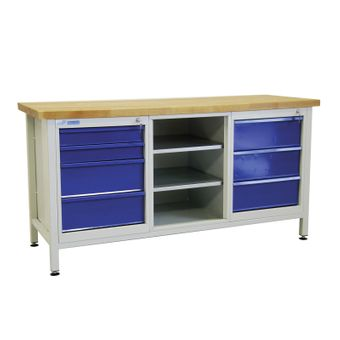 ADB Werkbank / Werktisch mit 7 Schubladen – Bild $_i