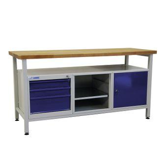 ADB Werktisch / Werkzeugtisch 1700x600x840 mm mit 3 Schubladen, 1 Tür – Bild $_i