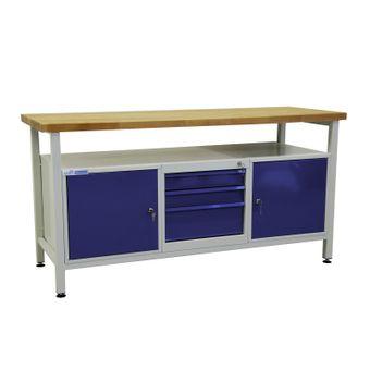 ADB Werktisch / Werkzeugtisch mit 2 Türen und 3 Schubladen – Bild $_i