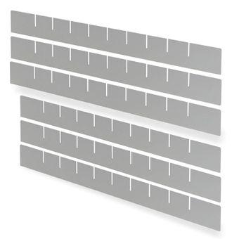 Einteiler Set 3+3 RAL 7035 für 40733 Schubladenschrank / Werkstattschrank