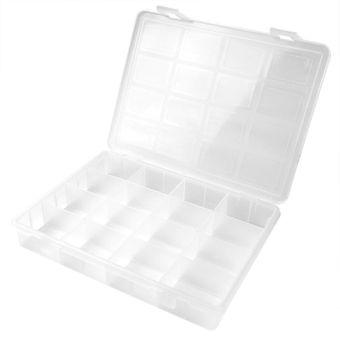 Kunststoff Sortimentskoffer / Sortimentskasten 16 Fächer transparent – Bild $_i