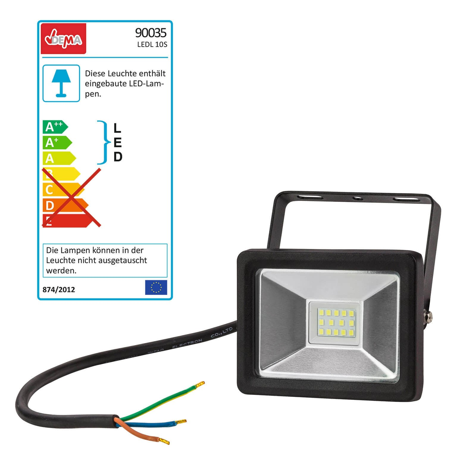 Dema LED-Leuchte Slim 10W Strahler LED-Lampe 90035