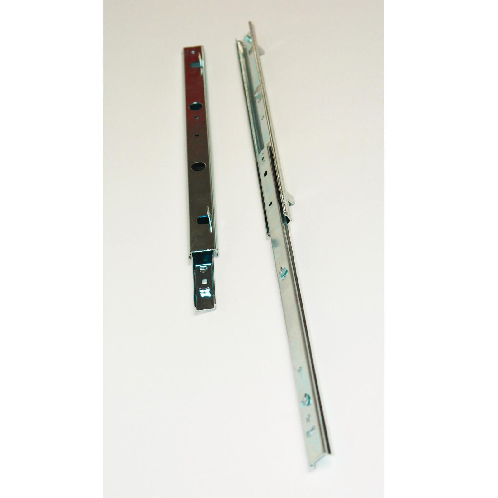 Dema 2 Stück Teleskopschiene Schubladenschiene 2 stufig 350x10x27 mm 99007