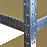 Steckregal / Kellerregal verzinkt mit 5 Holzböden 200x120x60 cm