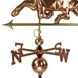 3D Wetterfahne Pferd aus Kupfer mit Standfuß für Dachmontage oder Bodenmontage