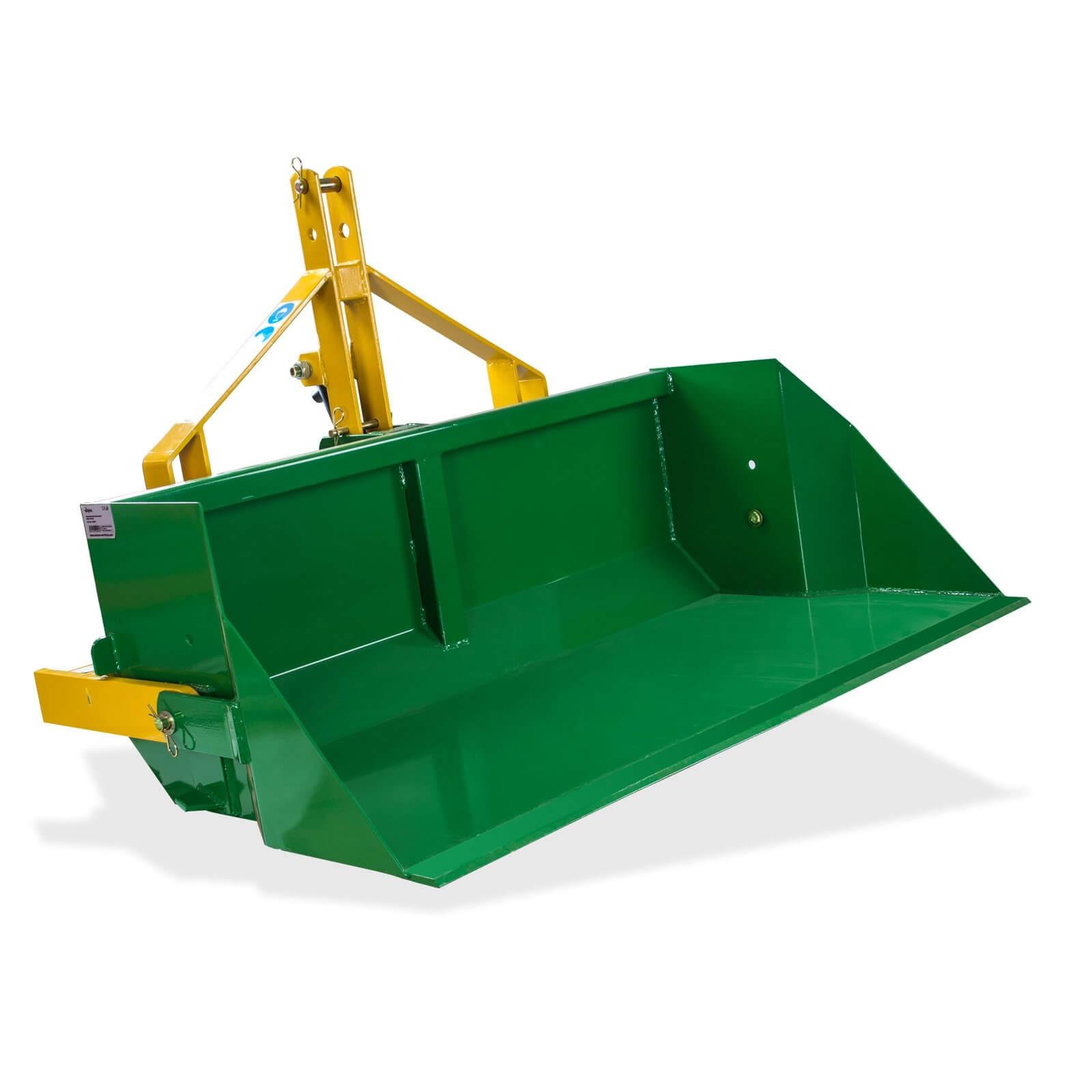 Traktor Heckschaufel / Hydraulik Schaufel 400kg DHS 120 HY mit Hydraulikschlauch