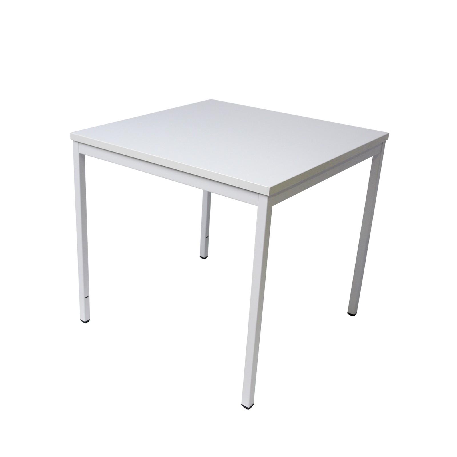 ADB Bürotisch Computertisch Schreibtisch Büro PC Stahlrohr-Tisch 800x800x750 mm