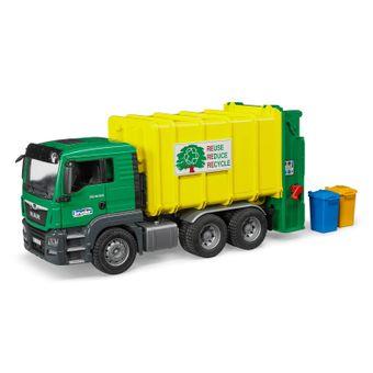 Bruder MAN TGA Müll-LKW / Müllabfuhr grün/gelb – Bild $_i