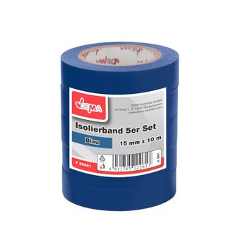 Isolierband Klebeband 5er Set Blau 15 mm x 10 m – Bild $_i