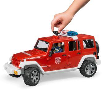 Bruder Jeep Wrangler Unlimited Rubicon Feuerwehr- Einsatzfahrzeug mit Figur – Bild $_i