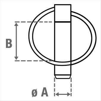 Klappstecker / Federstecker 11 x 36,5 mm – Bild $_i
