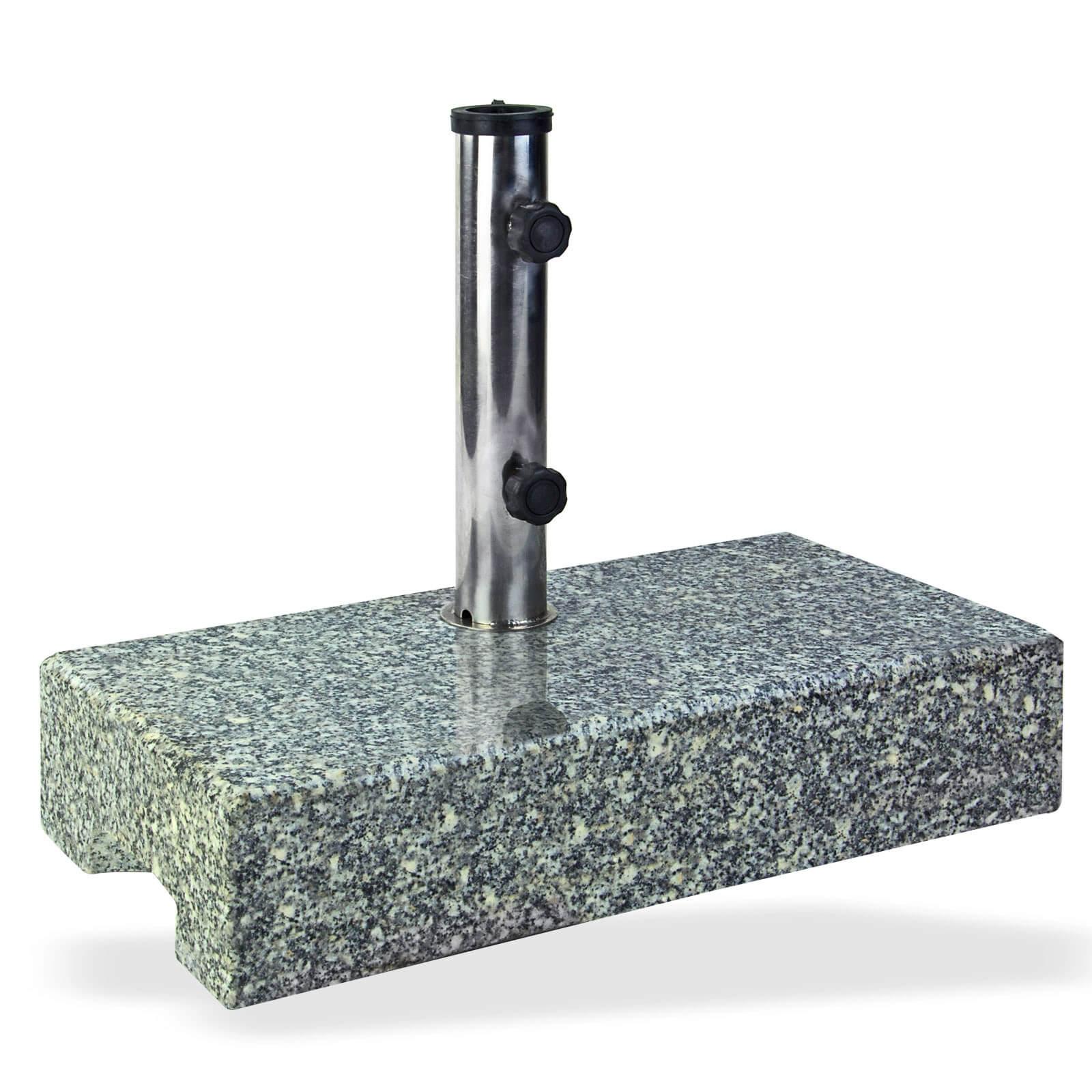 Dema Sonnenschirmständer Schirmständer halb Granit 25 kg Schirmfuß 41035