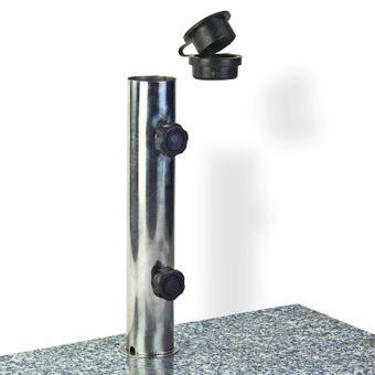 Sonnenschirmständer / Schirmständer halb Granit 25 kg – Bild $_i