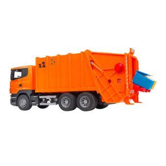 Bruder Scania R-Serie Müll-LKW / Müllabfuhr orange – Bild $_i