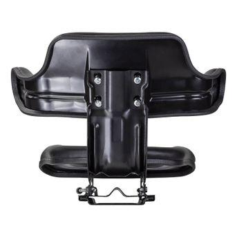 Traktorsitz Schleppersitz schwarz mit Armlehne Eco Kunstlederbezug mit Unterbau – Bild $_i