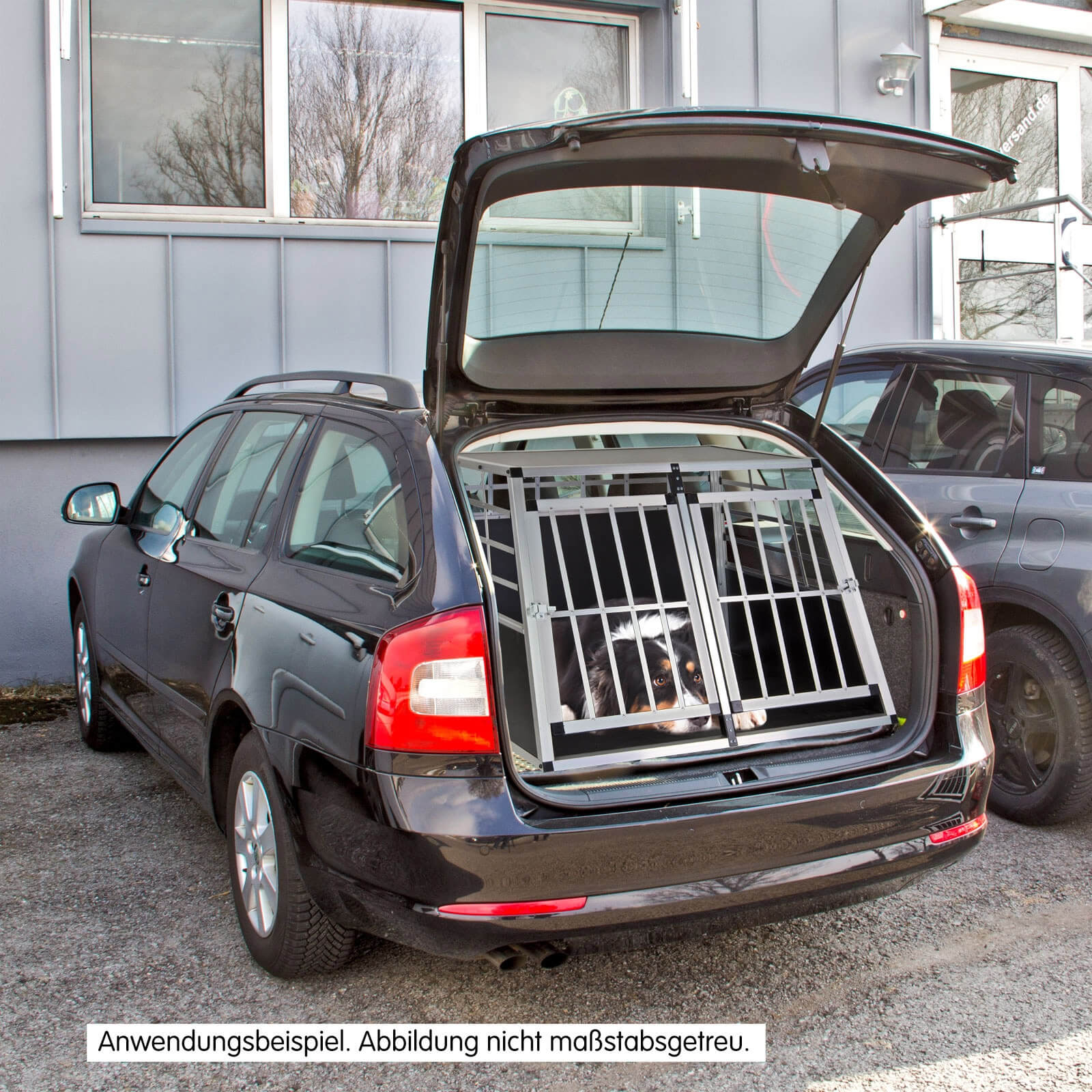 hundebox hundetransportbox balu f r auto kfz. Black Bedroom Furniture Sets. Home Design Ideas