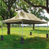 Standfuß-Gewichte Sandsack 4er Set für Zelt / Pavillon / Tisch / Marktstand