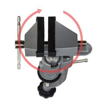 Tischschraubstock Schraubstock Präzisionsschraubstock 75 mm drehbar Kugelgelenk – Bild $_i