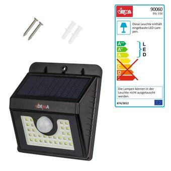 LED - Leuchte mit Akku und Solar DSL150 mit Bewegungsmelder – Bild $_i