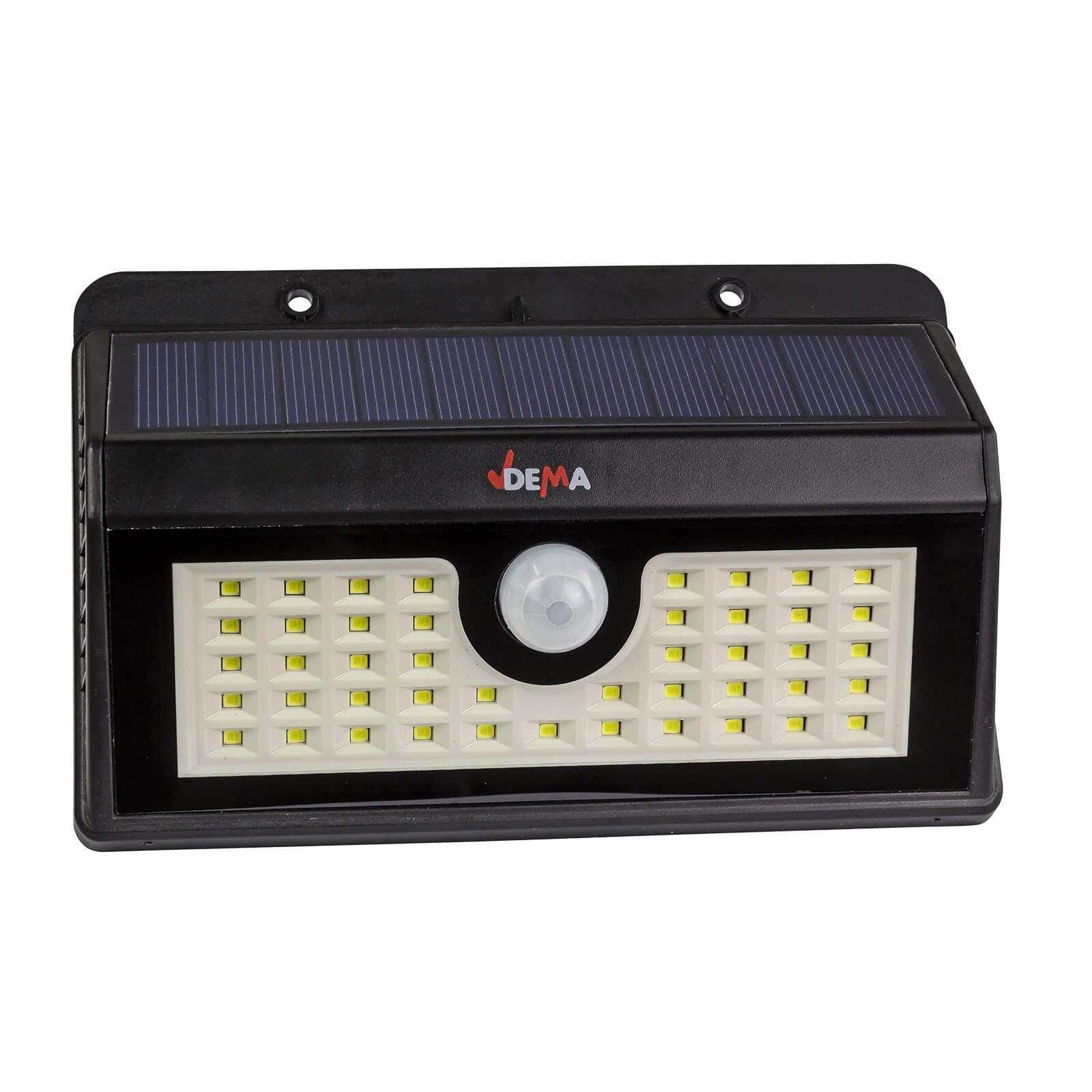 led leuchte mit akku und solar dsl300 mit bewegungsmelder. Black Bedroom Furniture Sets. Home Design Ideas