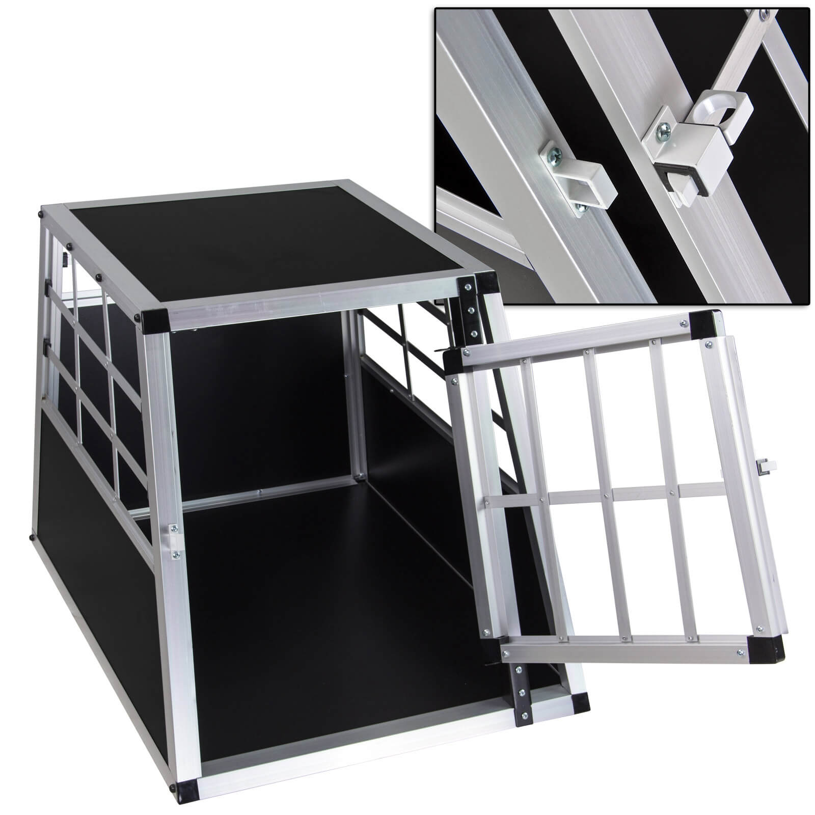 pkw auto alu hundebox hundetransportbox waldi 1. Black Bedroom Furniture Sets. Home Design Ideas