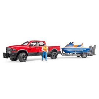 Bruder RAM 2500 Pickup Truck Power Wagon mit Anhänger – Bild $_i