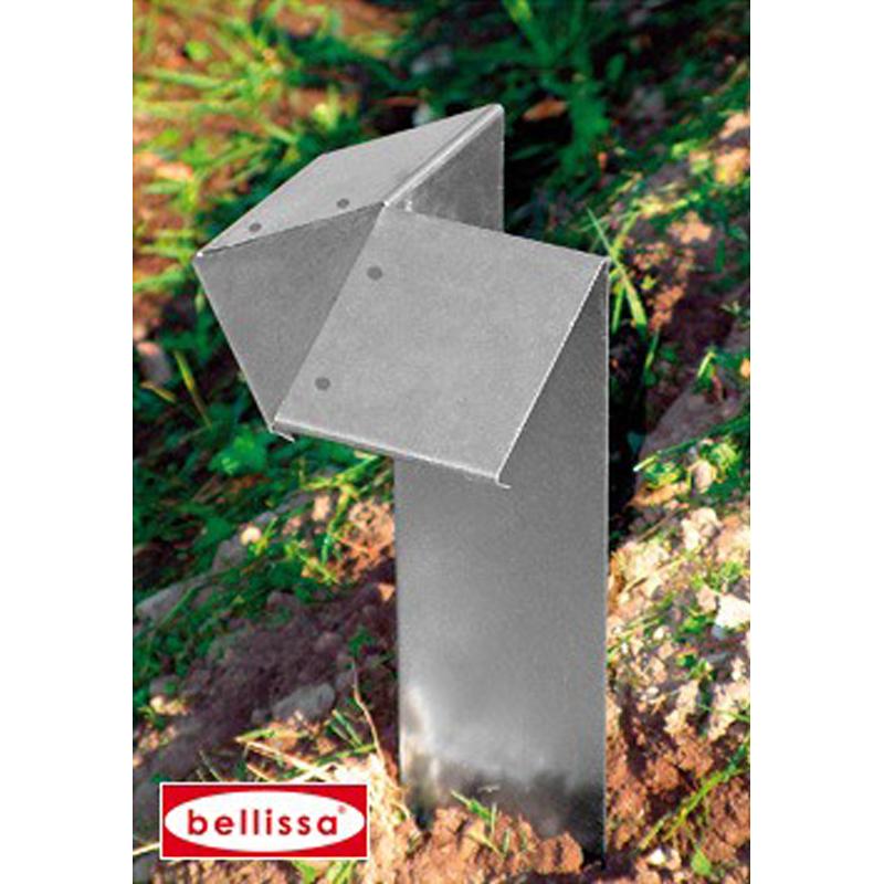 bellissa Schneckenblech Eckteil 7x7x20 cm Schneckenschutz 99621
