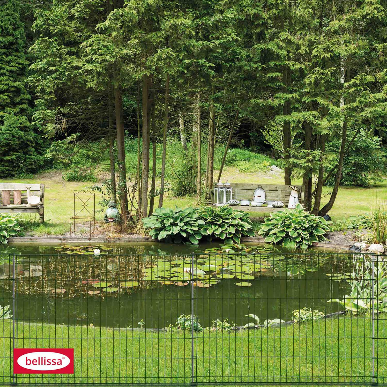 bellissa Teichschutzzaun Kleintiergehege ohne Schnörkel 116 x 80 cm Zaun Ambient 92853