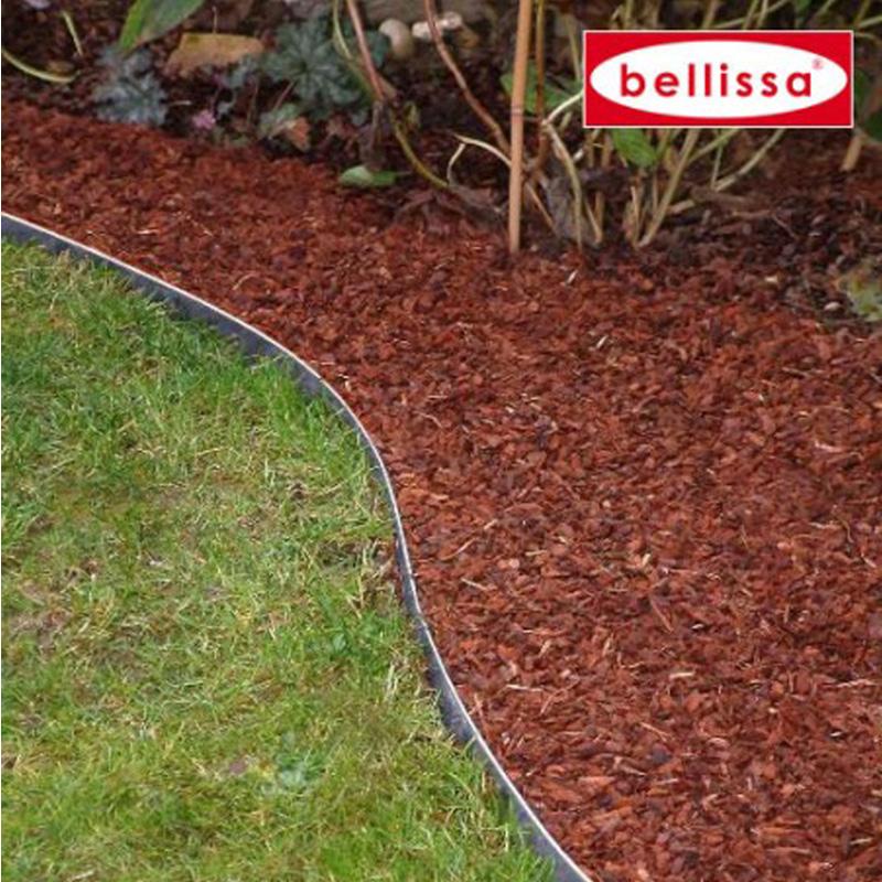 10x bellissa Rasenkante Garten verzinkt 118x13 cm biegsam Gartenbeet 99680x10