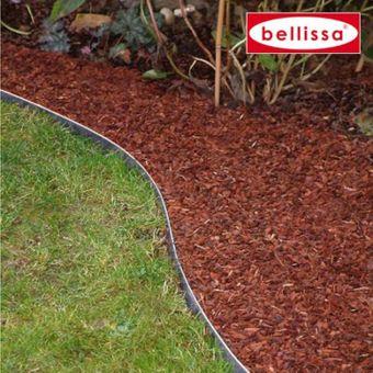 10x bellissa Rasenkante Garten verzinkt 118x13 cm Gartenbeet – Bild $_i
