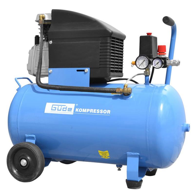 Güde Kolbenkompressor 50l 10 bar Druckluft Kompressor 301/10/50 12-tlg. 71101