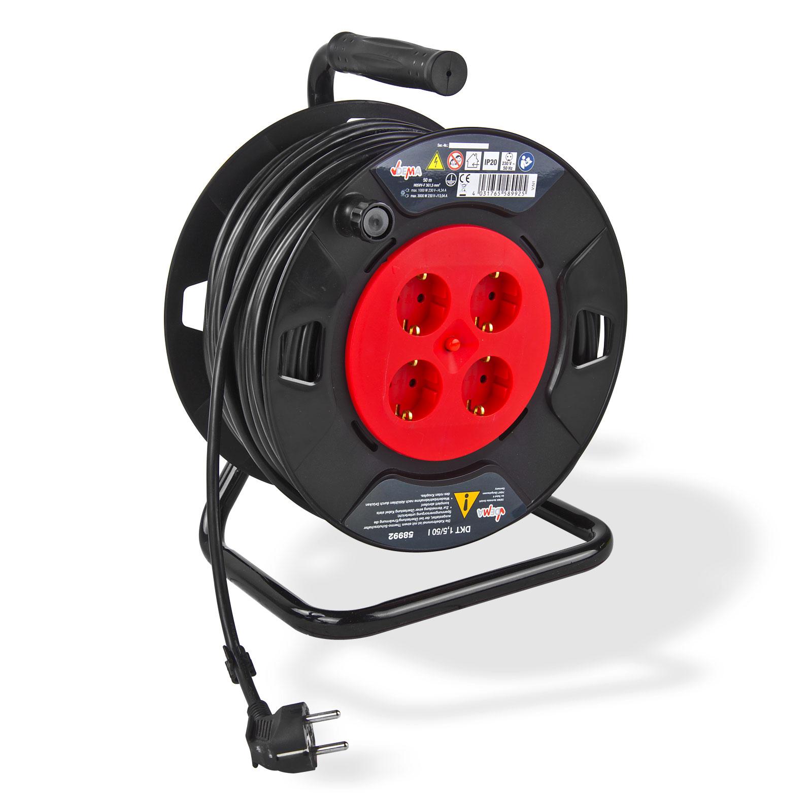 kabeltrommel verl ngerungskabel 50 m h05w f3g1 5m ip20. Black Bedroom Furniture Sets. Home Design Ideas