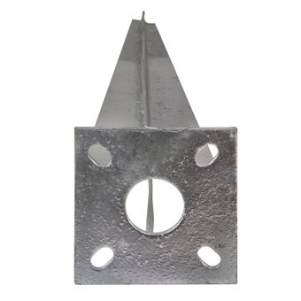 Pfostenträger Einschlaghülse mit Platte für Zaunpfosten Ø 34 mm – Bild $_i
