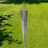 Pfostenträger Einschlaghülse mit Platte für Zaunpfosten Ø 34 mm