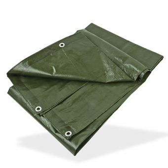 PE - Gewebeplane / Abdeckplane grün 3x3 m 140 g/m² – Bild $_i