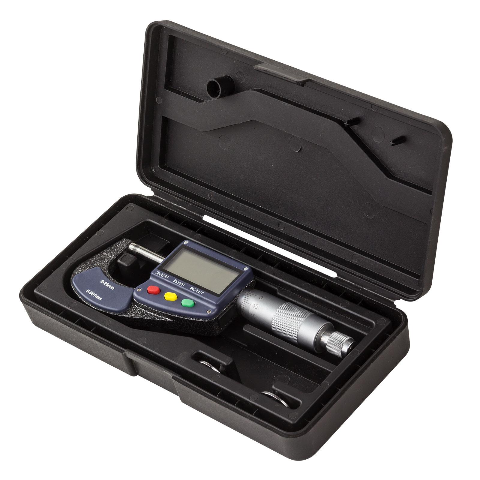 Dema Digital Mikrometer / Bügelmessschraube 0-25 mm 25322