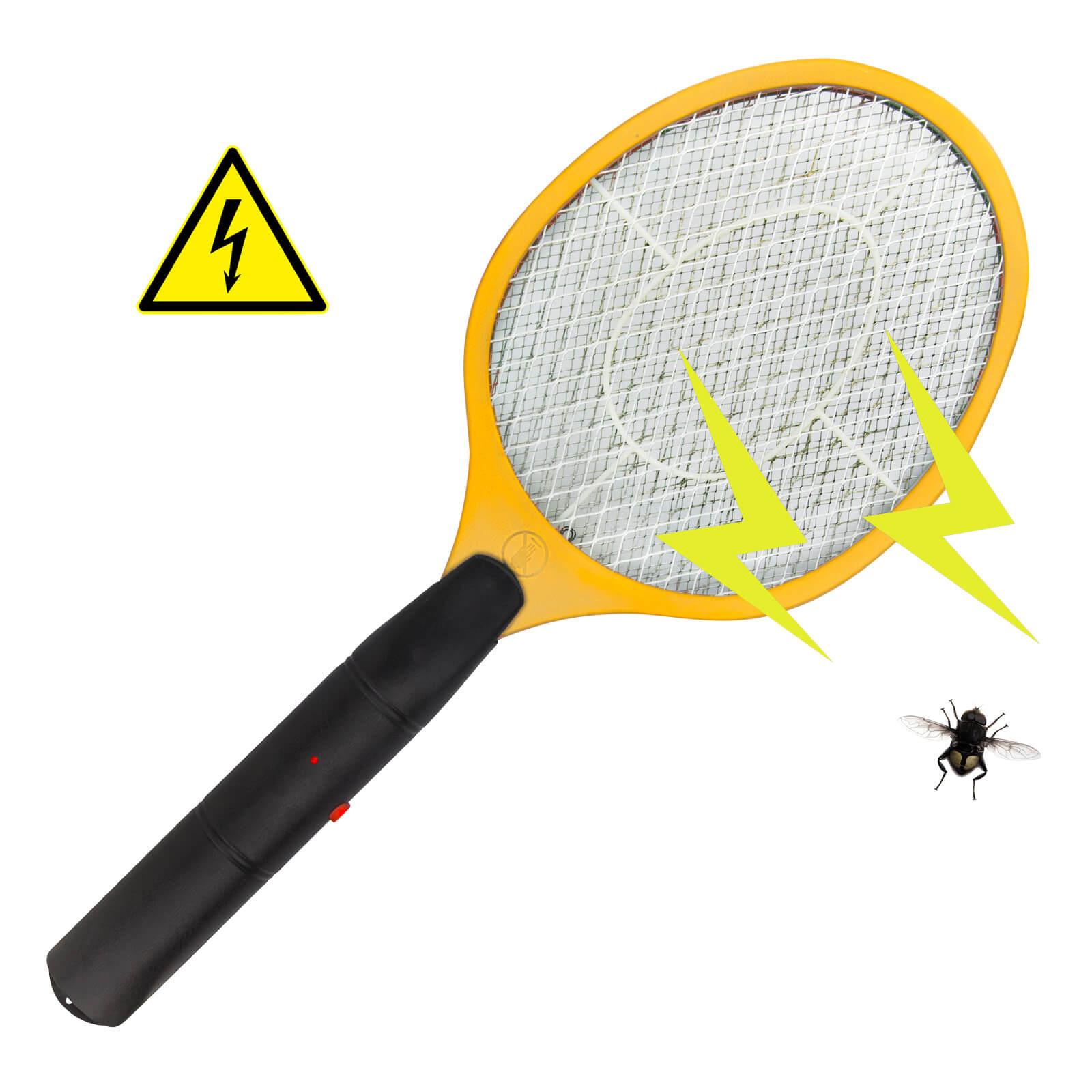 Dema Elektrische Fliegenklatsche / Insektenvernichter gelb 10042
